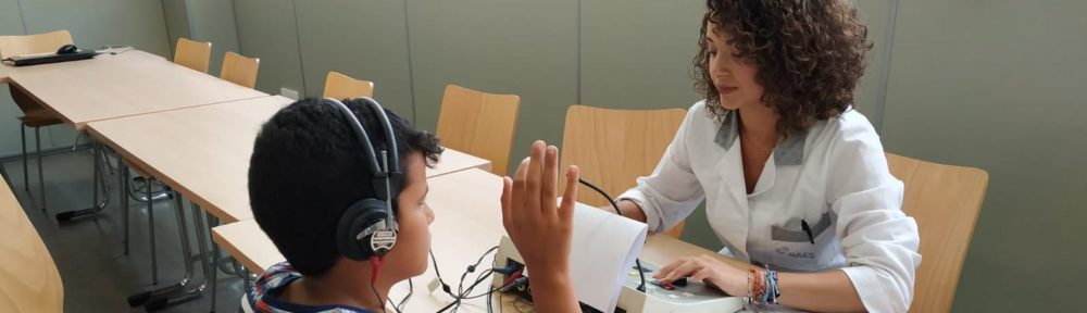 revisión auditiva niños saharuis