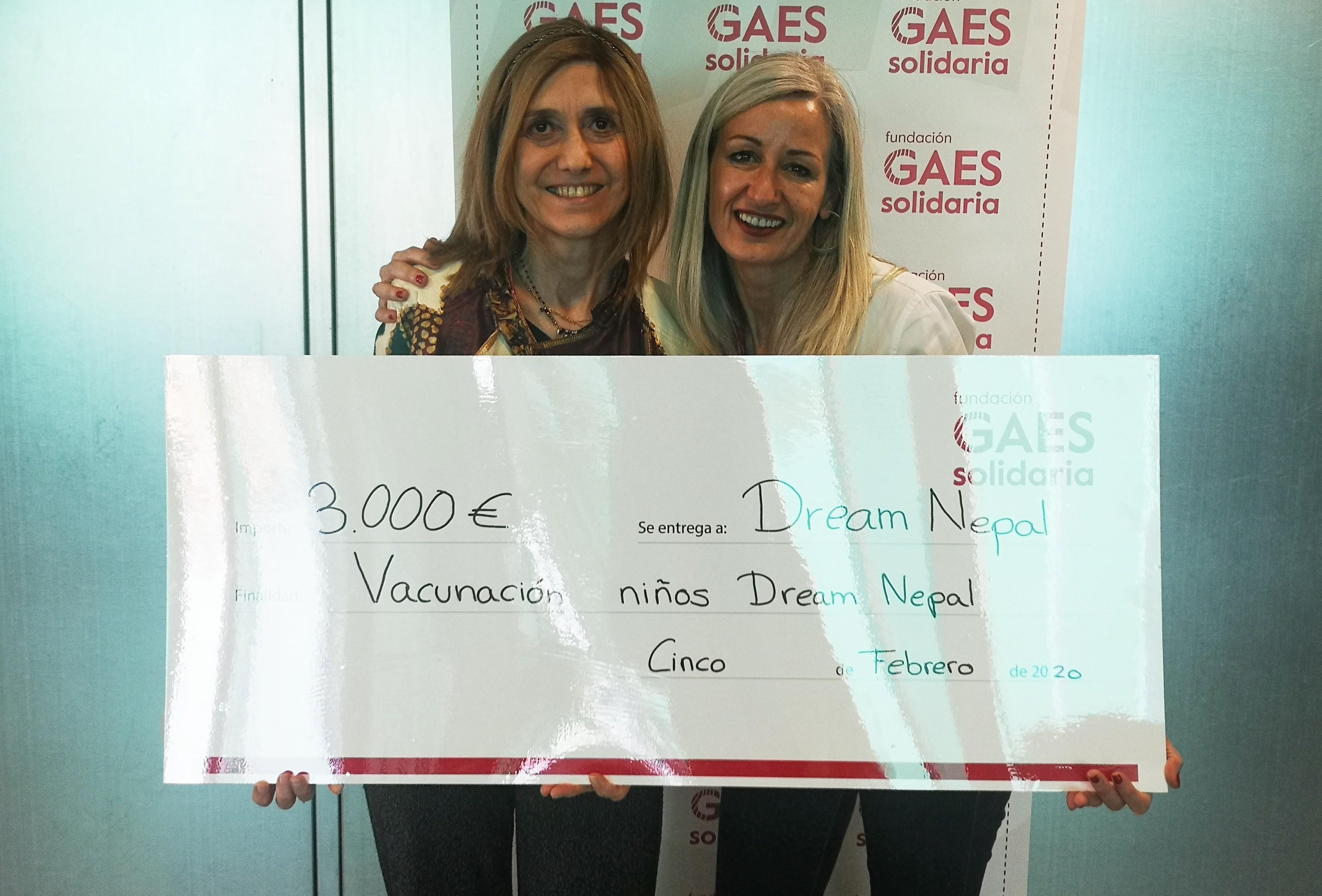 La Fundación GAES Solidaria apoyando la magnífica labor de Dream Nepal