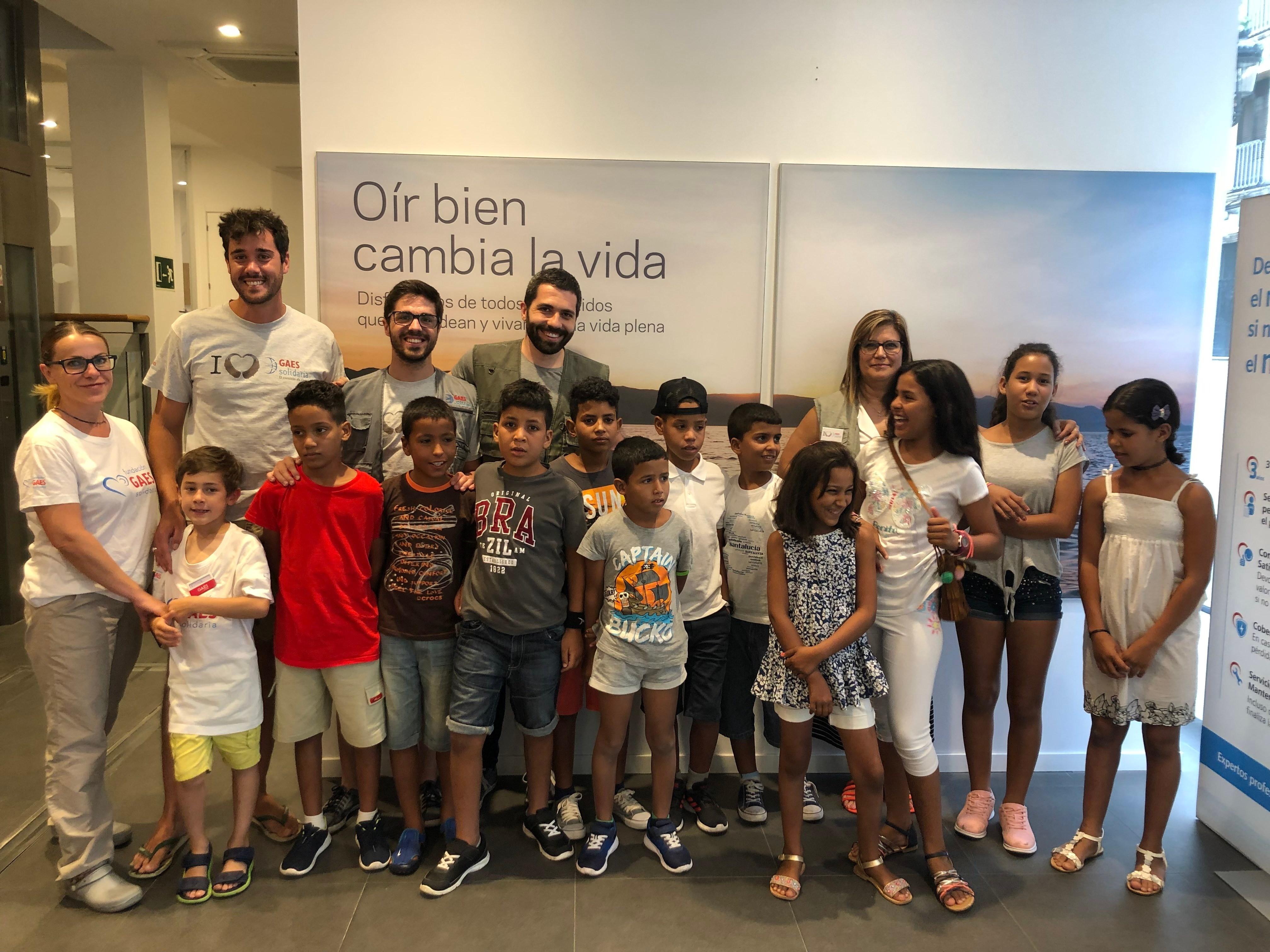 La Fundación GAES Solidaria revisa la audición a más de 200 niños de acogida